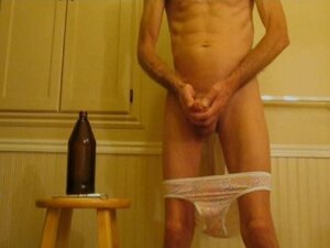 Shaved Cock and Stretched Ass Extreme Penis Plug,