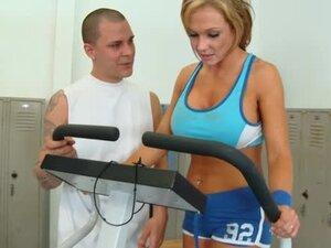 Trainer fucks the sporty big tits milf