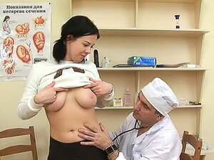 Dirty girl in pigtails takes doctor cock