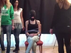 Slave Girl - Spit Circle - First Time With Group