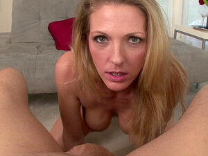 Mom blonde Roxanne Hall fucks in her mouth