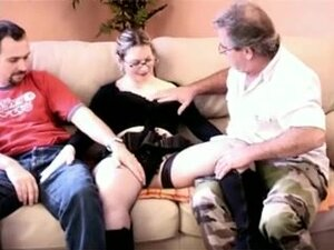 Naughty tattooed French bitch in a hot gangbang,