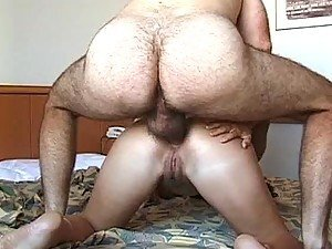 Hairy Old Man Fucking a Spectacular Brunette Teen