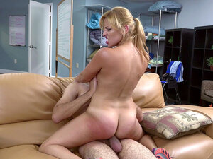 Puerto Rican mom Jazmyn fucks him on the couch -