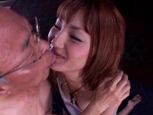 Japanese bitch Tsubasa Amami gives a blowjob to a