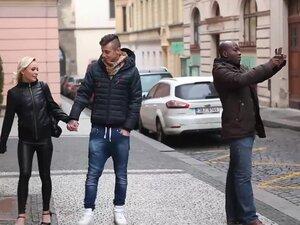 Slut wife fucks black man in front of her husband