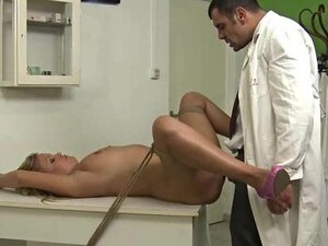 mean doc fucks strapped blonde patient