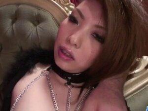 Dildo stimulation over Rinka Kanzakis hairy cunt