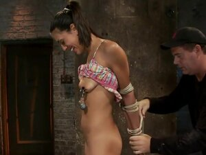 Skinny 22yr with big nipples is severely bound,