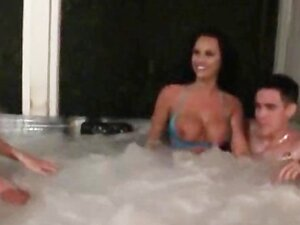 Hot jacuzzi party gets nasty and ends up in a