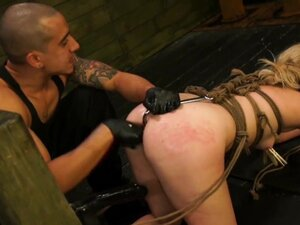 FetishNetwork Lilly Ligotage rope tied and fucked