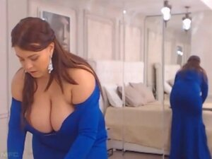 Busty wife, Busty wife shows huge melons and great