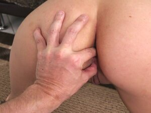 Fit big booty brunette anal fucks from behind