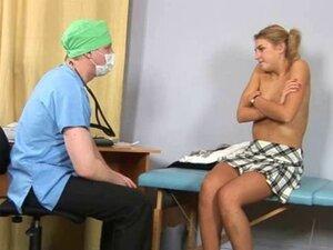 Sweet blonde gets gyno examination