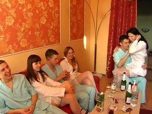 Ester & Yalena & Yulia & Zlata in group sex scene