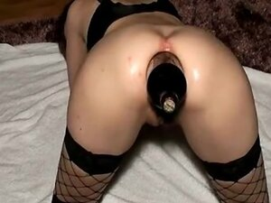Wifie assfucked with a bottle