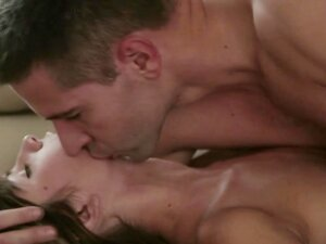 Romantic sensual duo loving each other with