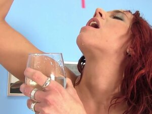 Redhead Terry wets her sexy pants in fetish porn