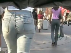 Hot ass babes caught on cam by street candid