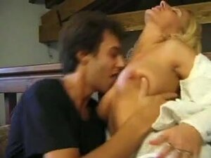 Blonde Laura Conti gets a funny threesome,