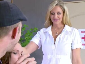 Sexy Julia seduces a guy and fucks him while gf