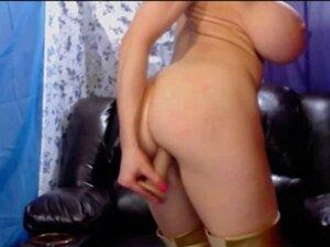 Busty porn star masturbation