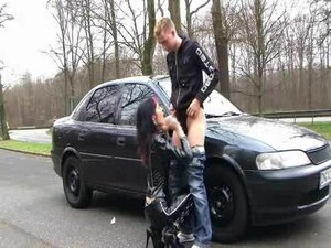 Sex in Highway with sexy girl in boots!
