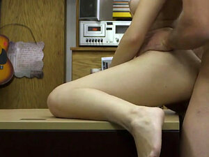 Short Haired Blonde Doggystyled And Riding Dick In