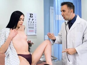 Small tits Marley Brinx pounded by the doctor in