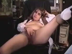 Wife stretches her hairy twat, The hairy beaver of