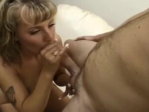 POV Blowjob Ends in Gooey Facial, This curly