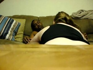 Chunky White Girl Rides a Black Man