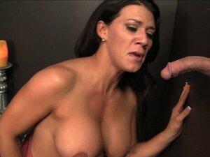 Wild dark-haired slut with big gorgeous tits