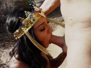 Princess gets fucked by a Pharaoh out in the