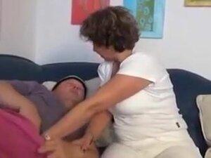 uncut manfucks his old lady,