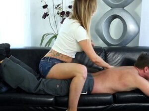 Busty conned masseuse cum