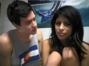 Sexy Dark Haired Couple Naked On Cam,