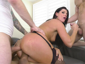 India Summer gets fucked in all holes in gangbang