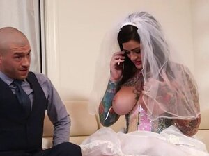 Huge boobs bride to be Juliana Rose fucked by best