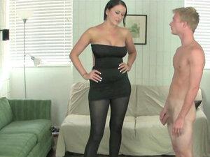 MILF mistress shows off her big boobies