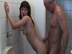Grandpa Fucks Teen in Bathroom