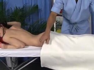 Sexy oiled body massaged and fucked hard