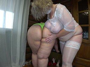 Russian mature BBW Lesbians with anal balls