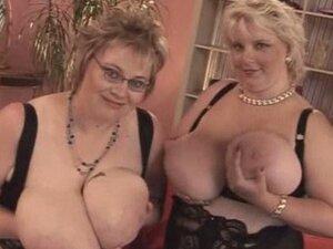 Fat Mature Lesbian sex
