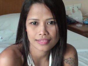 Thailand bar girl tiny pussy banged by white horny