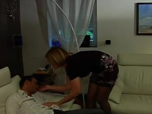 French Mature sluts fucking young boy and get
