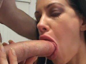 MILF deepthroating a big dick, Nina Cardova blows
