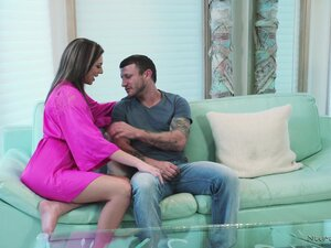 Awesome Tiffany Watson massages a dick with her