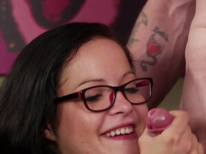 Spex CFNM milfs tugging lucky dudes cock