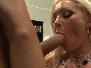Irresistible blonde escort gives head and gets